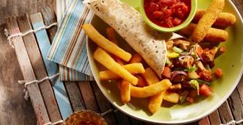 Mexican Colorful Fajitas With Mozzarella Squid Strips 1 1